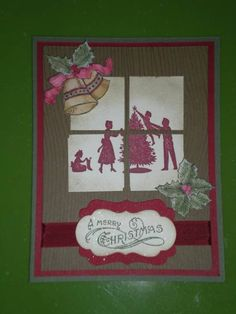 Welcome Christmas window card
