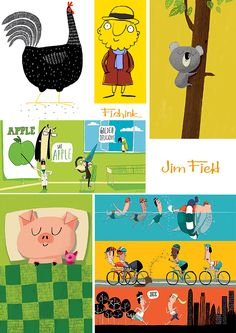 Jim Field. Illustrator. Check out my blog ramblings and arty chat here www.fishinkblog.w... and my stationery here www.fishink.co.uk , illustration here www.fishink.etsy.com and here http://www.fishink.carbonmade.com/projects/4182518#1 Happy Pinning ! :)