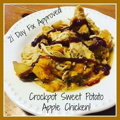 21 Day Fix APPROVED Crockpot Sweet Potato Apple Chicken!