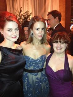 How brilliant are these women? Sarah Paulson (Bille Dean Howard, Lana Winters, Cordellia Winters), Alexandra Breckinridge (Young Moira), and Jamie Brewer (Nan/Addie) American Horror Story Series, Alexandra Breckenridge, Tate And Violet, Horror Show, Evan Peters, Cultura Pop, Celebs, Celebrities, Best Shows Ever