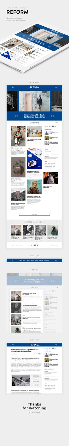 REFORM by Great Simple, via Behance