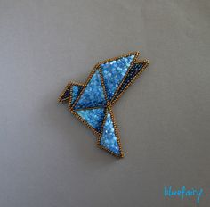 bluefairy art: Origami Magic, broszka
