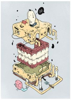 Animated Cartoon Dissections By T- Wei