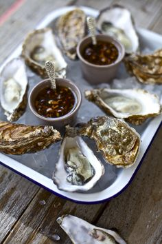 Oysters with Chiness Dressing :: talk about an aphrodisiac dish ! Yum, :D