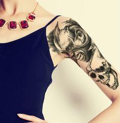 Halloween Skull Temporary Tattoos von Sexy Sugar auf DaWanda.com