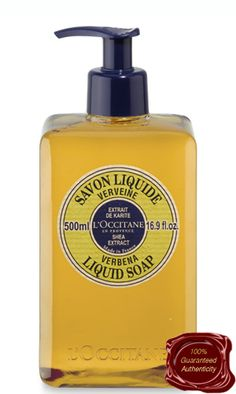 Whether you have dry, sensitive or damaged skin this is truly the soap for you. Rated TOP SELLER by L'Occitane for a reason Verbena Shea Butter Liquid Soap will leave your skin extra soft and gentle to the touch. Being that L'Occitane Shea Butter Liquid Soap Verbena comes in a pump dispensing bottle there is less worries about germs being passed on by family members or co workers