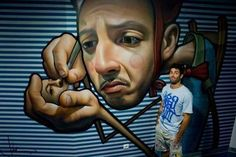 Impressive work by Spanish Artist, Miguel Belinchon Bujes, aka Belin Grafitti Street, Murals Street Art, Graffiti Murals, Mural Art, Best Street Art, 3d Street Art, Street Artists, Caricatures, Miguel Angel
