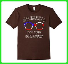 Mens go America It's your birthday Small Brown - Birthday shirts (*Amazon Partner-Link)