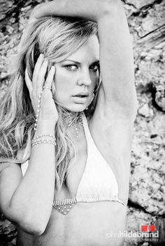 Celeb photographer John Hildebrand shoots with Rock & Revolution P.R. actress Natasha Alam of True Blood for Beach Bunny Swimwear /Fashion Week ( wearing Heather Gardner Malibu jewels ). #sexy #swimwear #beachbunny #trueblood #fashion