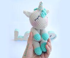 Dulce unicornio de crochet para los más pequeños de la casa. Amigurumi unicornio. Cute crochet Unicorn for kids and babies. Amigurumi Unicorn.