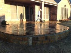 GroundScape, a Fort Worth Landscape Company, installs a paver patio ...