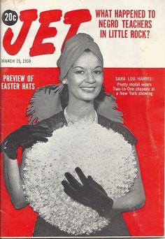MAR 19 1959 JET MAGAZINE VOL.15 #20 (Sara Lou Harris) Jet Magazine, Black Magazine, Life Magazine, Ebony Magazine Cover, Magazine Covers, Essence Magazine, Newspaper Headlines, Vintage Black Glamour, Black Image