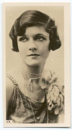 A rare beauty, her name lost in time, as featured on one of the many cigarette cards that were so avidly collected by young men in the 1920's.