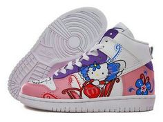 new product 46dce 4dc8b Nike Dunk Premium SB Hello Kitty Butterfly Sneakers Unique Nike Cartoon,  Cartoon Shoes, High