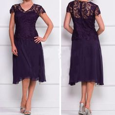 New lace Knee-Length Mother Of The Bride Dress Wedding Formal Evening Dress