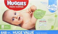 Huggies Natural Care Baby Wipes, Refill, Unscented, Hypoallergenic, Aloe and Vitamin E, 648 Count, 2016 Amazon Most Gifted Baby & Child Care  #Health-Personal-Care