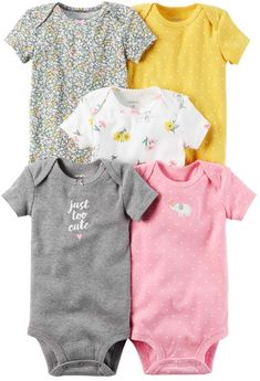 Carters Baby Girls Too Cute Bodysuits Carters Baby Clothes, Carters Baby Girl, Cute Baby Clothes, Baby Boy, Baby Outfits, Toddler Outfits, Kids Outfits, Cute Bodysuits, Pyjamas