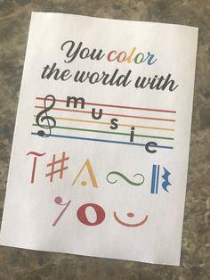 Teacher Thank You Cards, Music Teacher Gifts, Teacher Appreciation Notes, Appreciation Quotes, School Gifts, School Treats, Principal Gifts, Music Ministry, Pta