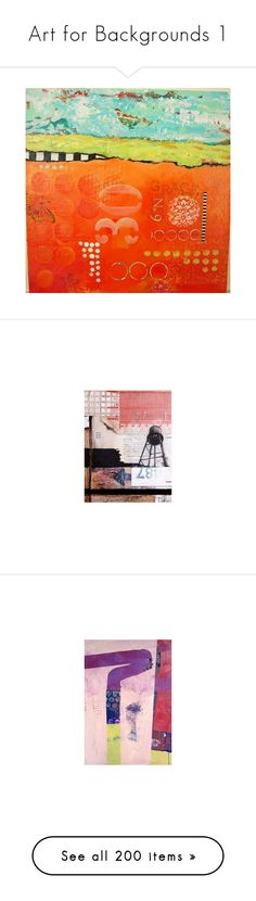 """""""Art for Backgrounds 1"""" by awsewell ❤ liked on Polyvore featuring backgrounds, abstracts, art, graphics, abstract, orange, paper, numbers, collage and home"""