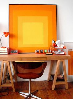 Introduce trendy colors to your decor with artwork and accessories.