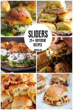Recipes for sliders, a great way to feed your friends and family at your next gathering. : Recipes for sliders, a great way to feed your friends and family at your next gathering. Mini Sandwiches, Appetizer Sandwiches, Appetizer Recipes, Appetizers, Steak Sandwiches, Slider Recipes, Burger Recipes, Game Recipes, Feeding A Crowd