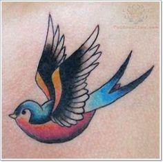 55 Bright Swallow Tattoos: More Than Just A Tattoo of a Bird | http://www.barneyfrank.net/swallow-tattoo-design-ideas/