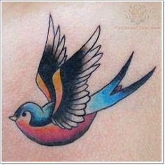 55 Bright Swallow Tattoos: More Than Just A Tattoo of a Bird | http://www.barneyfrank.net/swallow-tattoo-design-ideas/