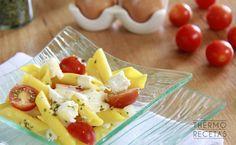 Ensalada de pasta de maíz con vinagreta de naranja - http://www.thermorecetas.com/ensalada-pasta-maiz-vinagreta-naranja/