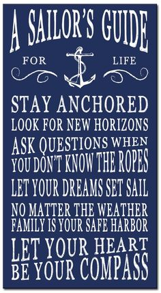 Decorate your home with beach and coastal home décor from Country Marketplace including a large range of wooden signs and sayings Navy Life, Navy Mom, Navy Sister, Nautical Quotes, Nautical Theme, Nautical Backdrop, Nautical Quilt, Nautical Wreath, Nautical Cake