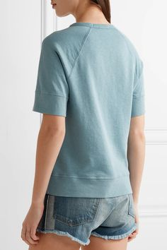 James Perse - Supima Cotton-terry Sweatshirt - Light blue - 1