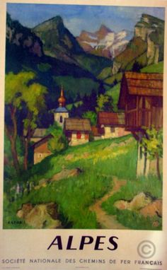 Alpes original poster by Capon