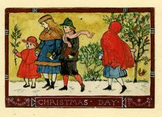25 Dec: Merry Christmas to all! It's 'Christmas Day' by Walter Crane