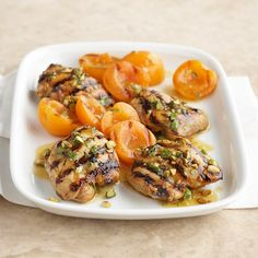Apricots, mint and curry powder give these grilled chicken thighs a kick of flavor. More grilled chicken recipes: http://www.bhg.com/recipes/chicken/grilled/grilled-chicken-recipes/?socsrc=bhgpin052113apricotchicken=7