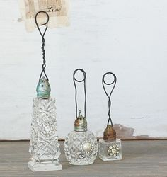 Vintage Salt Shaker Photo Holder by bertha
