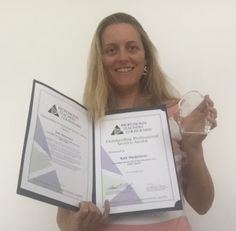 Kate Hargreaves is awarded the Outstanding Professional Service Award