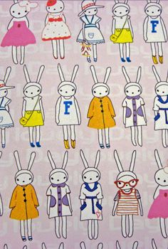 bunny wrapping paper from Etsy store CharleysCache