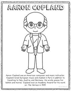 Mahatma Gandhi Coloring Page Craft or Poster with Mini
