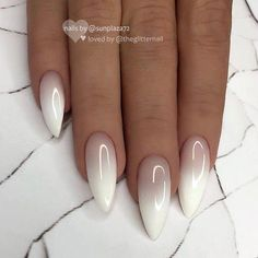 creative almond nail designs you'll love if you're looking ., creative almond nail designs you'll love If you're looking for almond nail designs and almond nail ideas, you've come to the right pla. Almond Nails Designs, Ombre Nail Designs, White Nail Designs, Ombre Nail Art, Perfect Nails, Gorgeous Nails, Pretty Nails, Amazing Nails, Milky Nails