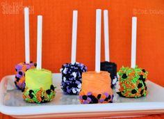 Food Family Finds » Dipped Marshmallow Pops for Halloween for the baking impaired.