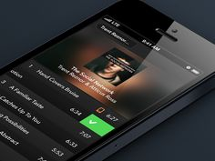 Music Player Interaction by Ramy Majouji. 25 Stunning #Mobile #UI Examples