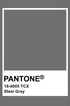 Pantone Steel Gray