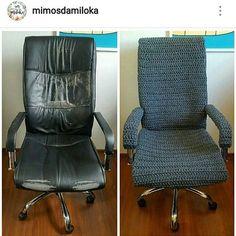 Olá pessoas, bom dia 😍 Um bom dia bem daora hoje heim 👌 Gente masólha q coisa interessante 😍😍😍 Uma cadeira zuada virou uma cadeira chique 😲 Amei!  Parabéns @mimosdamiloka 👏👏👏 . . . . . . . . . .  #croche #crochetbasket #crochetlove #crochetlovers #amorporcroche #artesanato #artecroche  #compredequemfaz #croche #crochet #crochê #knit #kniting