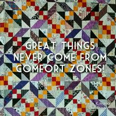 Happy Monday, everyone! Are you ready to push some boundaries this week?! Pick a skill or a technique you have always wanted to try, or improve on and take the time to do it well! Midnight Flight quilt from my book MORE Adventures with Leaders & Enders. ... #quilt #quilting #patchwork #quiltville #bonniekhunter #deepthoughts #wordsofwisdom #wisewords #quiltvillequote