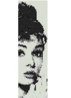 Happy girls are the prettiest. ~ Audrey Hepburn This pattern is for a black and white Audrey Hepburn bracelet using size 11 Delica beads.