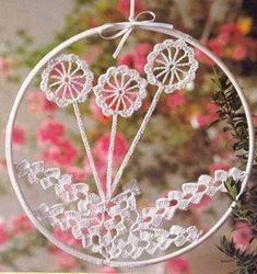 hoop doily includes pattern