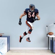 Fathead NFL Chicago Bears Brian Urlacher Linebacker Wall Decal   12 20704 Part 98