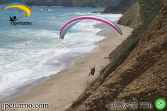 Paragliding course Puerto Lopez- Machalilla National Park Ecuador Do not be afraid to move forward and take risks , be afraid of doing nothing and stay on the road , learn paragliding adrenaline sport .