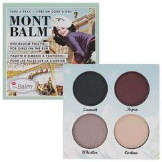 NEW The Balm Mont Balm Eye Shadow Palette 4 Colors Limited Collection Cosmetic Makeup Geek, Love Makeup, Beauty Makeup, Makeup 101, Drugstore Beauty, Huda Beauty, Makeup Brushes, Beauty Tips, Makeup Palette