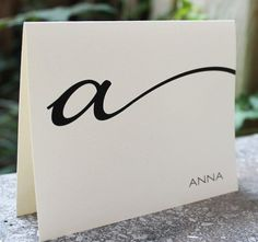 Monogrammed Stationery Folded Note Cards by camispaperie on Etsy, $16.95