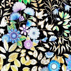 Johanna Bashford My Secret Garden Purple And Gold Sabine